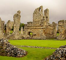CASTLE ACRE, PRIORY RUINS , NORTH NORFOLK by ANNETTE HAGGER