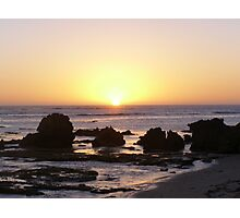 Sunset Over Rocks Photographic Print