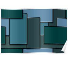 Blocks (BlueGreen) Poster