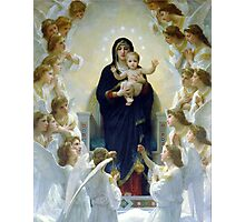 Angels Surrounded Jesus and Mary Photographic Print