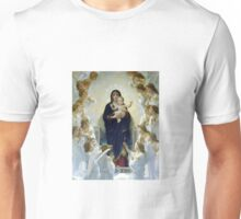 Angels Surrounded Jesus and Mary Unisex T-Shirt