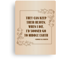 Quotes Canvas Print