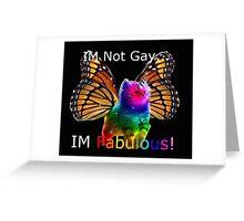rainbow butterfly unicorn kitten Greeting Card