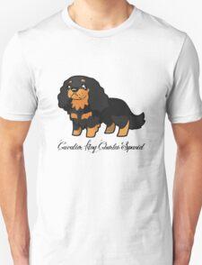 Cavalier Collection - Black & Tan Labelled Unisex T-Shirt
