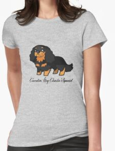 Cavalier Collection - Black & Tan Labelled Womens Fitted T-Shirt