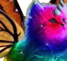 rainbow butterfly unicorn kitten Sticker