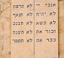 The Ten Commandments in Hebrew.  by PhotoStock-Isra