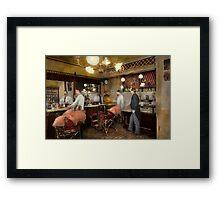 Barber - L.C. Wiseman Barbershop, NY 1895 Framed Print