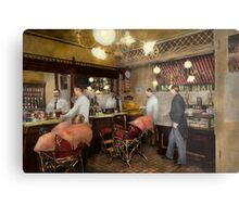 Barber - L.C. Wiseman Barbershop, NY 1895 Metal Print