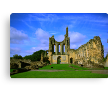 Byland Abbey  North Yorkshire Canvas Print