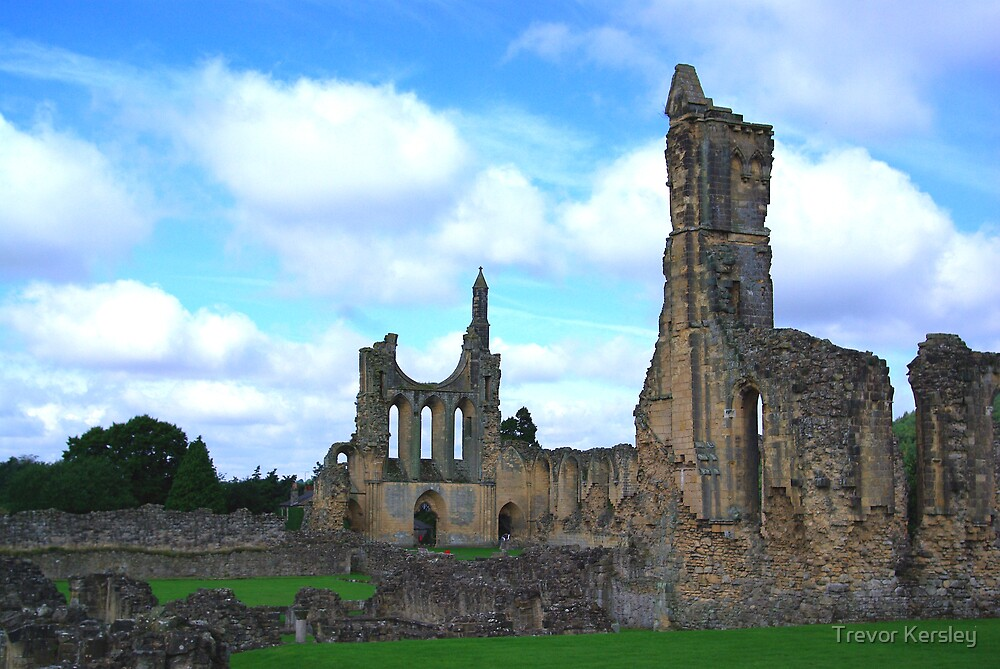 Byland Abbey -4 by Trevor Kersley