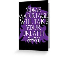 Purple Wedding Greeting Card