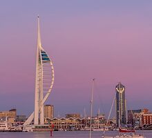 Spinnaker Tower and a pink sky by Judi Lion
