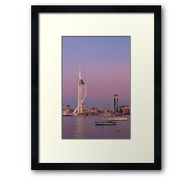 Spinnaker Tower and a pink sky Framed Print