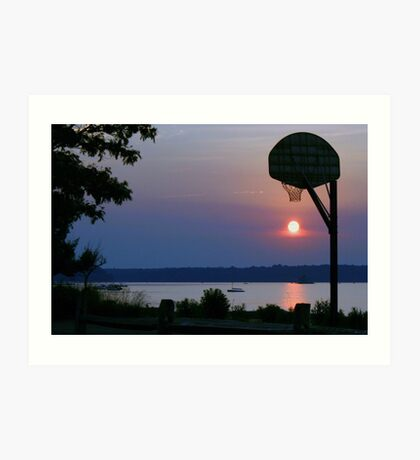 Slam Dunk Sunset Art Print