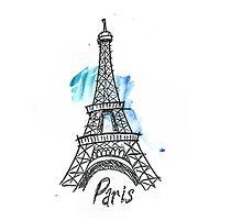 Paris Eiffel Tower Sketch by OcelotBubbles