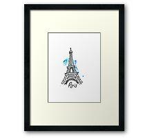 Paris Eiffel Tower Sketch Framed Print