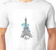 Paris Eiffel Tower Sketch Unisex T-Shirt