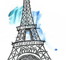 Paris Eiffel Tower Sketch Sticker