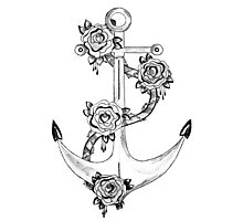 Anchor and Rose Photographic Print