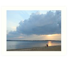 calm after the storm; Lloyd Harbor NY Art Print