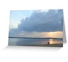 calm after the storm; Lloyd Harbor NY Greeting Card