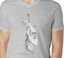 Darwin Took Steps -t-shirt Mens V-Neck T-Shirt