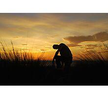 Silhouette Man Photographic Print