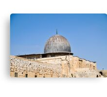 Israel, Jerusalem, Haram esh Sharif (Temple Mount) Canvas Print