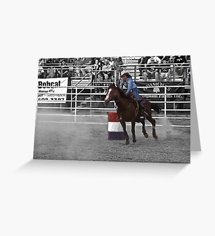 The rodeo- select color Greeting Card