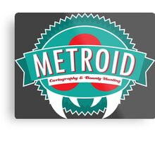 Metroid Cartography and Bounty Hunting Metal Print