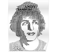 Andy Samberg Text Portrait Poster
