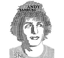 Andy Samberg Text Portrait Photographic Print