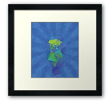 Abstract Blue Geometric Background Framed Print