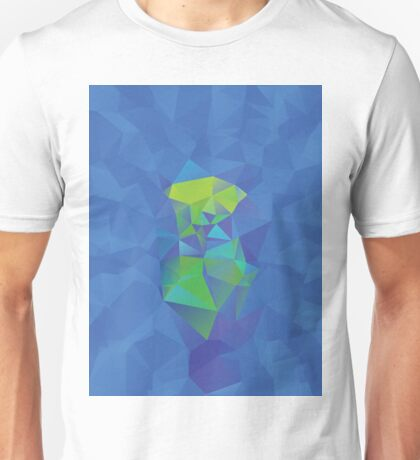 Abstract Blue Geometric Background Unisex T-Shirt