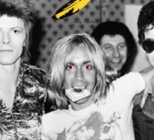 - DAVID - IGGY - LOU - HEROIN - Sticker