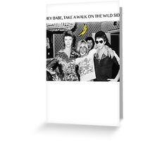 - DAVID - IGGY - LOU - HEROIN - Greeting Card