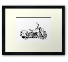 WLA pen and ink Framed Print