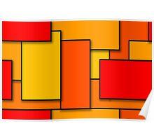 Blocks (RedOrange) Poster