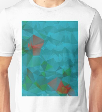 Abstract Blue Geometric Background 3 Unisex T-Shirt