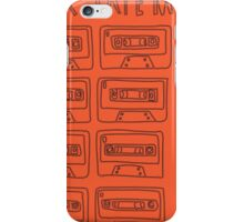 Mix Tape Orange and Black Design iPhone Case/Skin
