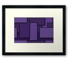 Blocks (Purple) Framed Print
