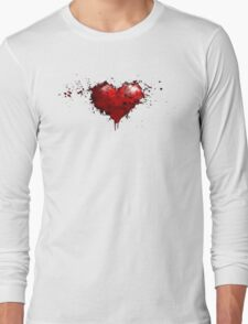 heart painted Long Sleeve T-Shirt