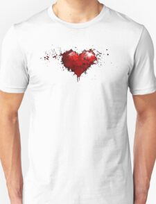heart painted Unisex T-Shirt