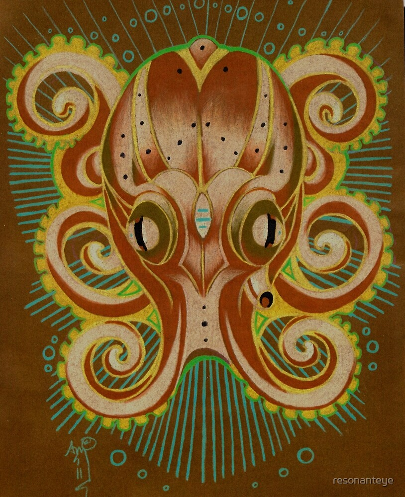 octopus totem art by resonanteye