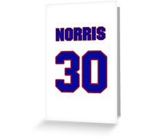 National baseball player Norris Hopper jersey 30 Greeting Card