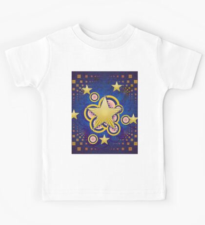 Colorful background with stars Kids Tee