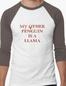Penguin Llama Men's Baseball ¾ T-Shirt