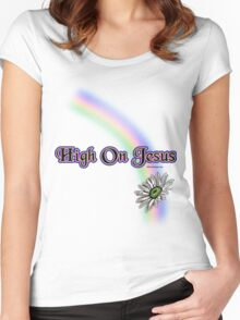 High On Jesus T Shirt Women's Fitted Scoop T-Shirt