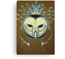 icy barn owl totem Canvas Print